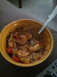 Shrimp stirfy